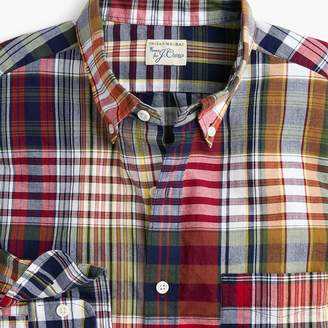 J.Crew Tall Indian madras shirt in mixed red plaid