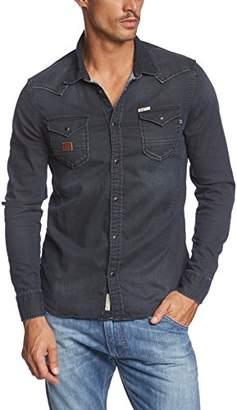 Khujo Men's BUTCH Button Front Long Sleeve Casual Shirt