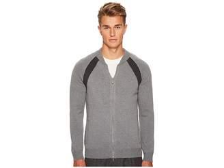 Eleventy Raglan Sleeve Zip College Sweater Men's Sweater