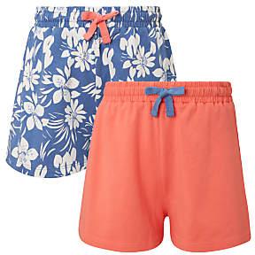 John Lewis Girls' Jersey Shorts, Pack of 2