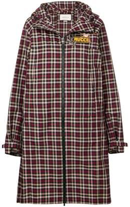Gucci embellished plaid coat