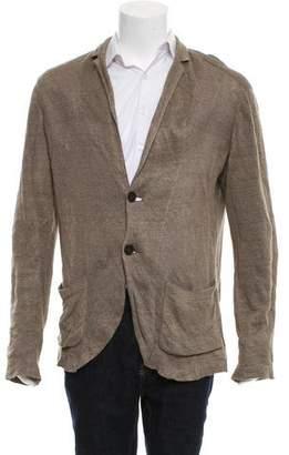 John Varvatos Woven Button-Up Cardigan