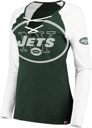 Majestic Women's New York Jets The Lace Up Tee