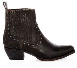 Frye Sacha Studded Leather Chelsea Boots