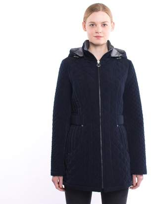 Womens Spring Navy Quilted Jacket Shopstyle