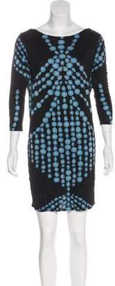Mara Hoffman Geometric Print Silk Mini Dress