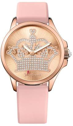 Juicy Couture Dusty Rose Band Jet Setter Watch