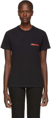 Helmut Lang Black Brian Roettinger Logo Hack T-Shirt