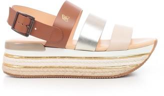 Hogan Striped Platform Sandals