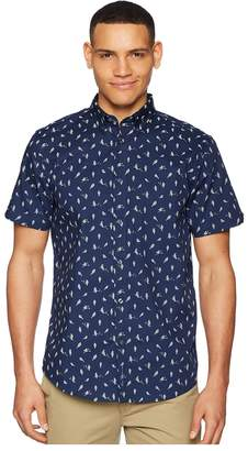 Ben Sherman Short Sleeve Bird Print Shirt Men's Short Sleeve Button Up
