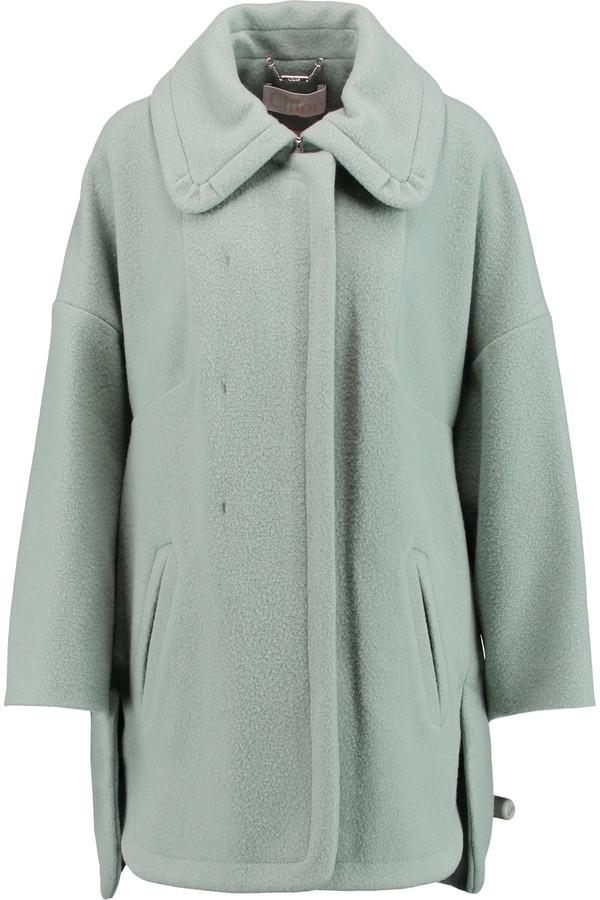 Chloé Chloé Wool-blend bouclé coat