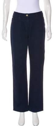 St. John Mid-Rise Straight-Leg Jeans blue Mid-Rise Straight-Leg Jeans