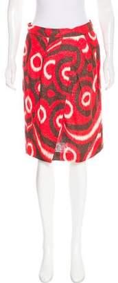 Tory Burch Patterned Linen Skirt