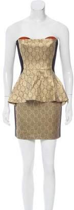 Stella McCartney Strapless Silk Dress
