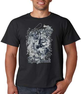 Juiceclouds   T Shirt Cowboy up Or Stay in The Truck (, M)