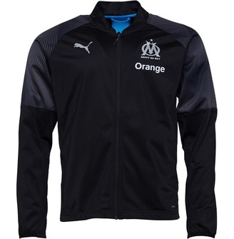 Mens Olympique Marseille Poly Track Jacket Black