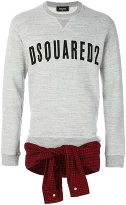 DSQUARED2 shirt tie-waist sweatshirt