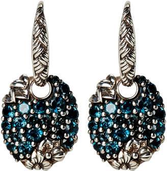 Stephen Dweck Sterling Silver & London Blue Topaz Earrings