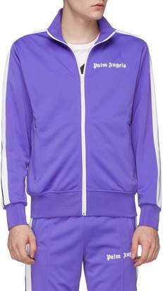 Palm Angels Stripe sleeve track jacket
