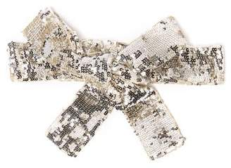 ATTICO The Sequinned Wrap Belt - Womens - Silver