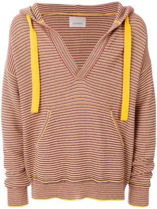 Laneus striped hooded jumper