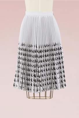 6c591aaedb MSGM Laser cut houdnstooth Skirt