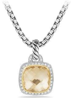 David Yurman Albion Pendant with Diamonds and 18K Gold
