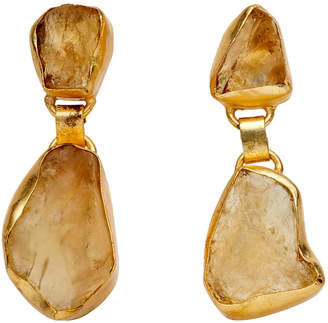 Citrine Rock Earrings