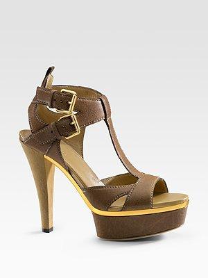 Gucci Iman T-Strap Sandals