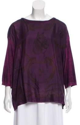 Avant Toi Cashmere & Silk Oversize Top