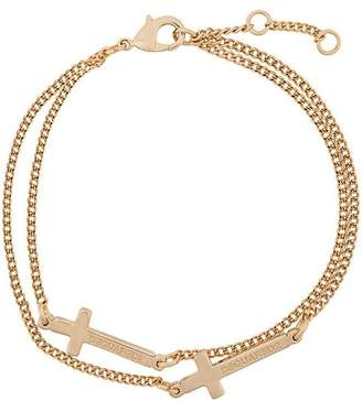 DSQUARED2 cross chain bracelet