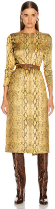 Andamane ANDAMANE Beulah Midi Dress in Yellow Snake | FWRD