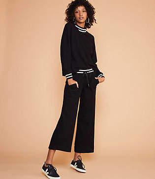 Lou & Grey Sundry Stripe Rib Flare Pocket Pants
