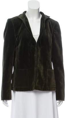 Akris Velour Structured Jacket green Velour Structured Jacket