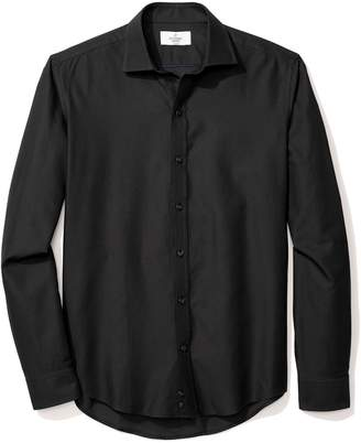 Buttoned Down Men's Slim Fit Supima Cotton Spread-Collar Textured Dress Casual Shirt