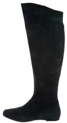 Etro Square-Toe Knee-High Boots