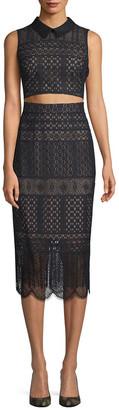 BCBGMAXAZRIA Flo Two-Piece Lace Dress