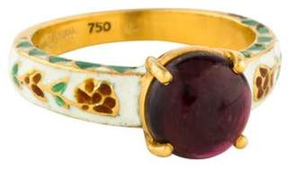 Amrapali 18K Tourmaline & Enamel Cocktail Ring