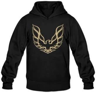 Sarah Men's Pontiac Firebird Logo GTA Trans Am Retro Sweatshirt Hoodie XL