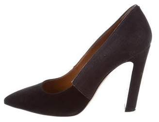 Calvin Klein Collection Pointed-Toe Suede Pumps