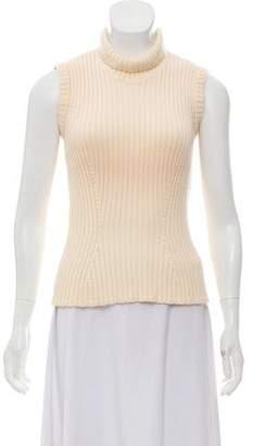 Christian Dior Sleeveless Turtleneck Sweater