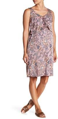 Everly Grey Maternity Pia Patterned Sleeveless Dress (Maternity)