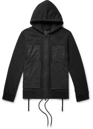 Craig Green Poplin-Panelled Cotton-Jersey Zip-Up Hoodie