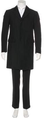 Dries Van Noten Wool Herringbone Overcoat