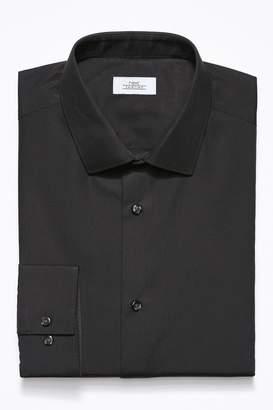 Next Mens Black Skinny Fit Single Cuff Easy Care Shirt - Black