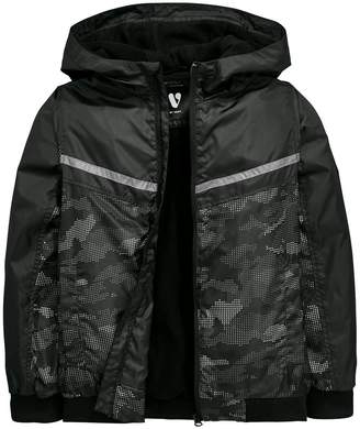 Very Camo Print Fleece Lined Hooded Lightweight Jacket