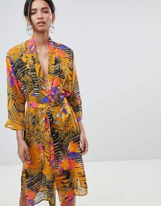 Gestuz Mixed Print Beach Kimono