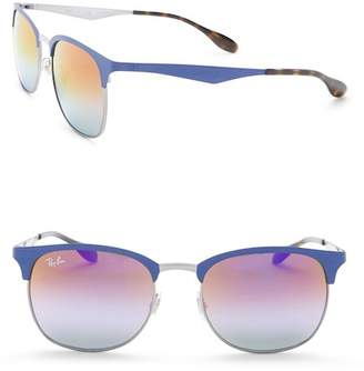 Ray-Ban 53mm Clubmaster Metal Frame Sunglasses