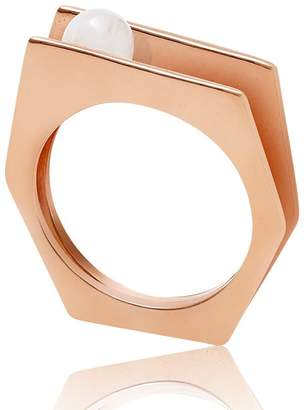 Neola - Alvaro Rose Gold Cocktail Ring With White Pearl