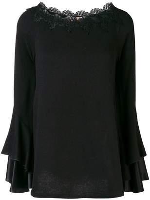 Ermanno Scervino long-sleeve appliqué blouse